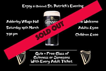 Irish ticket sold out